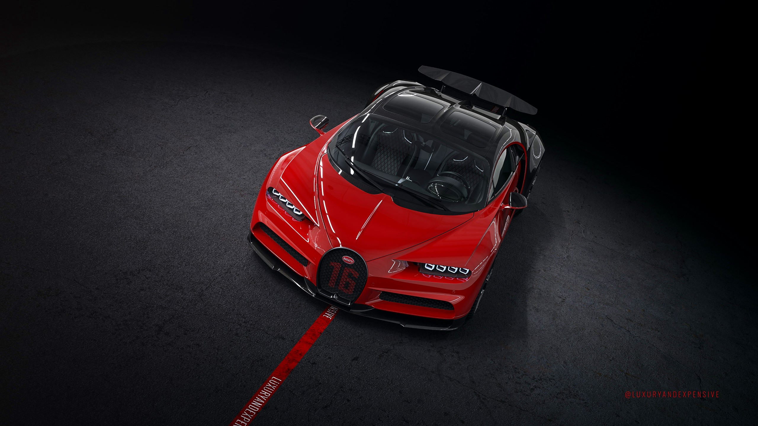 Bugatti Chiron Sport - red - 600 km - Sky View Roof - for sale