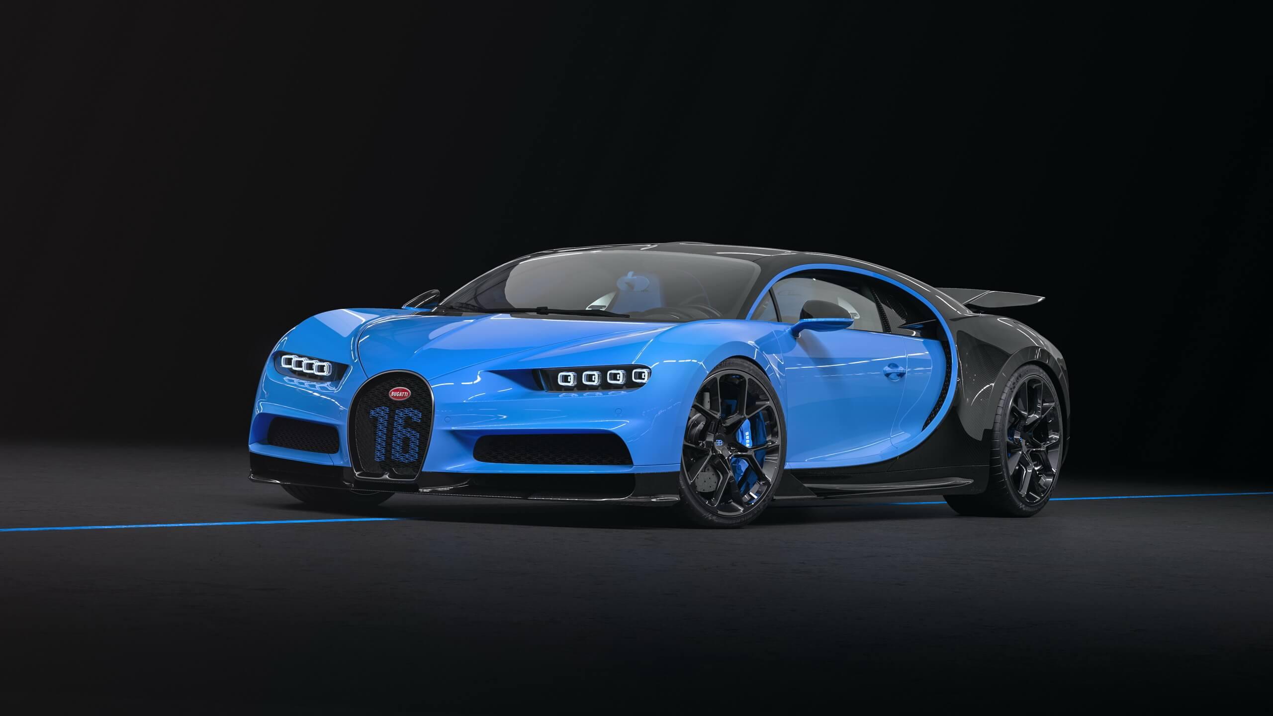 Bugatti Chiron Sport Blue- 7124