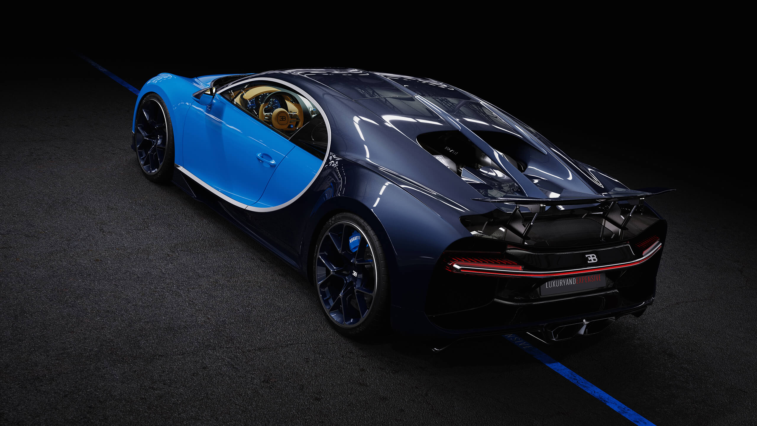 Bugatti Chiron (Blue), 2016/04 now for € 3,241,073 - buy @ LUXCARS.ONE