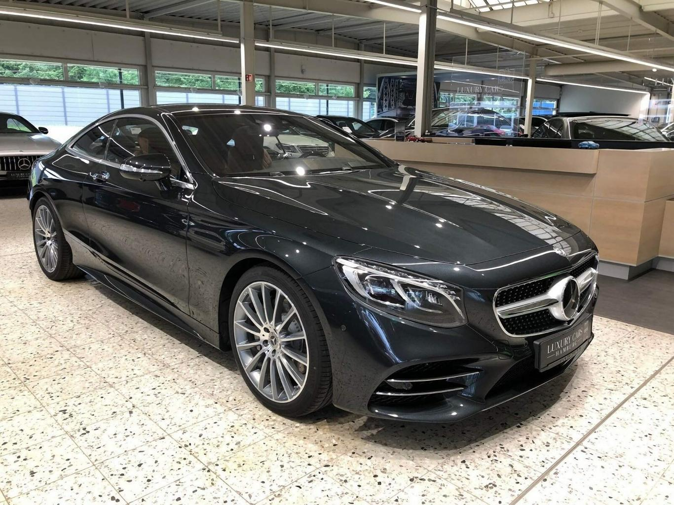 Mercedes Benz S 560 Coupe 2018 Black Brown Amg Line