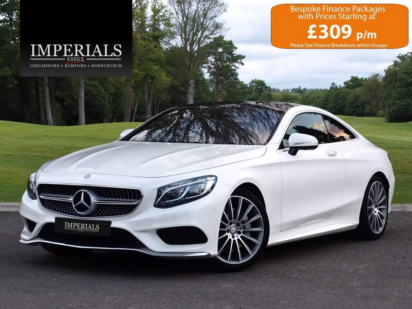 White Mercedes Benz >> Mercedes Benz S Class S500 Amg Line Premium Coupe 9 Coupe Diamond White Metallic