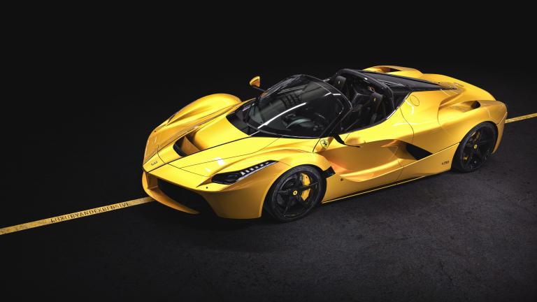 Ferrari Laferrari Aperta Yellow In Stock Delivery Miles For Sale